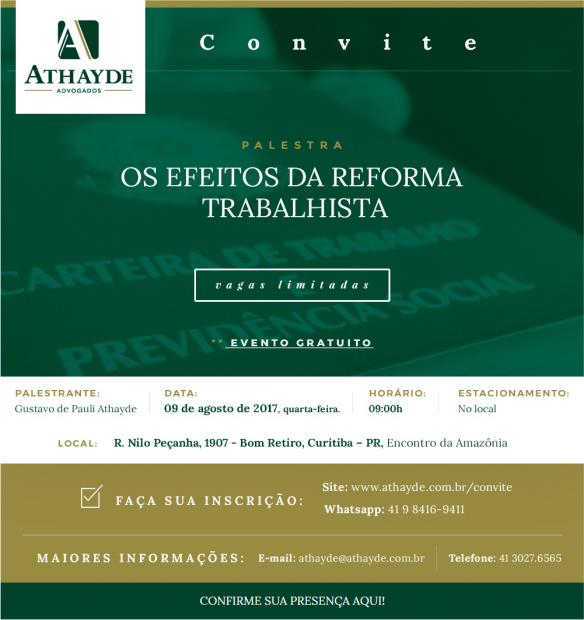 Os efeitos da Reforma Trabalhista em debate em Curitiba
