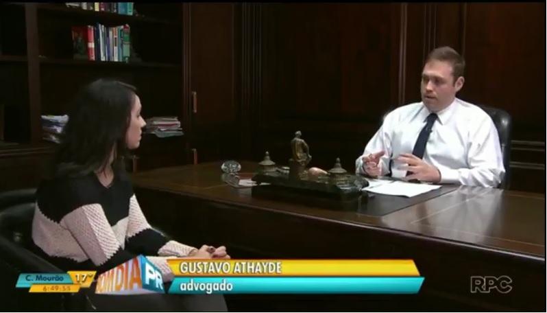 Dr. Gustavo Athayde esclaresce dúvidas no programa BOM DIA PR da RPC TV